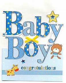 Congrats Baby Card Large New Baby Boy Congratulations Greeting Card 9 X 10