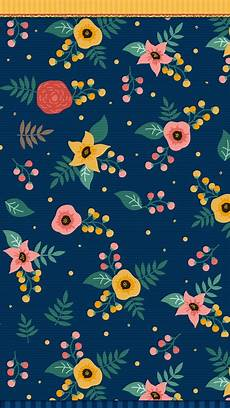 Navy Floral Iphone Wallpaper by Navy Blue Floral Wallpaper Iphone Wallpaper Cel Fondos