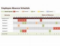 Employee Absence Template Employee Absence Schedule