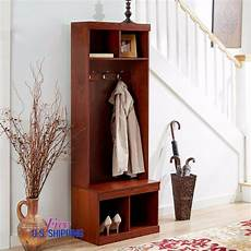 coats and bench entryway wooden tree shoe storage bench coat rack