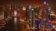 Dubai Night Lights Grosvenor House Dubai Dubai United Arab Emirates