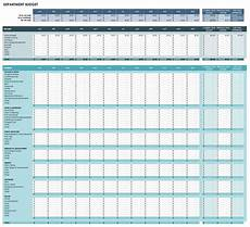 Department Budget Template Free Monthly Budget Templates Smartsheet