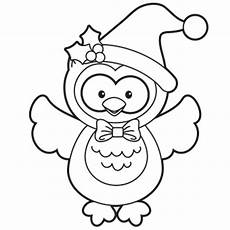 Ausmalbilder Eule Weihnachten Owl Coloring Page Free Recipes