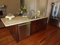 kitchen island with dishwasher island sink and dishwasher yelp