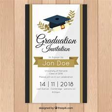 Design Graduation Invitations Online Free Elegant Graduation Invitation Template With Golden Style
