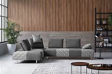 Modular Sectional Sofa For Living Room 3d Image by Divani Casa Cooke Modern Grey Houndstooth Fabric Modular