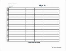 Signing Sheet Template 7 Free Sign In Sheet Templates Word Excel Pdf Formats