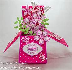 pop up card template flowers anet s crafting flower pop up card box