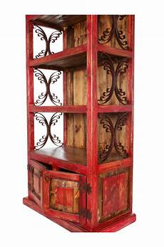 iron scroll bookcase lorec ranch home furnishings