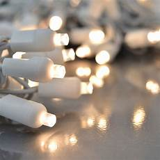 Christmas String Lights White Cord Led Warm White String Lights Twinkling Effect