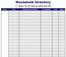 House Inventory Sheet Household Inventory Sheet Template Blue Layouts