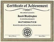 Academic Award Certificate Certificate Of Achievement