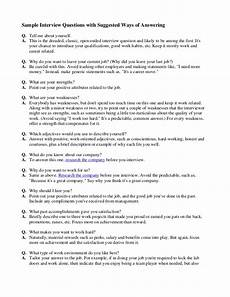 Sample Job Interview Answers Interview Question For Fresher