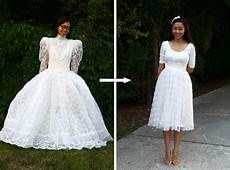 diy vintage wedding dress to a cocktail dress life is