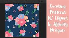 Affinity Designer Repeat Pattern Creating Patterns With Clipart In Affinity Designer Youtube