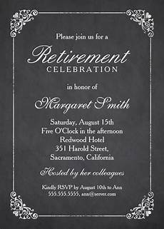 Retirement Invitations Online Elegant Chalkboard Retirement Party Invitation Template