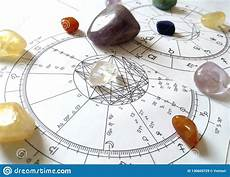 Stone Natal Chart Astrology Chart Quartz Natural Stone Crystal Natal Chart