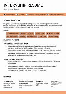 Student Internship Cv Template Internship Resume Samples Amp Writing Guide Resume Genius
