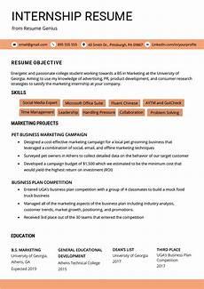 Advertising Internship Resume Internship Resume Samples Amp Writing Guide Resume Genius