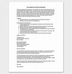 Resume Follow Up Letters Follow Up Letter Template 10 Formats Samples Amp Examples