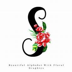 flower wallpaper letter alphabet letter s watercolor floral background vector