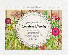 Garden Party Invites Shabby Floral Garden Party Invitation Watercolor