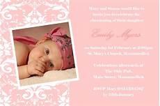 Christening Invitations Girl Personalised Girl Photo Christening Invitations Design 5