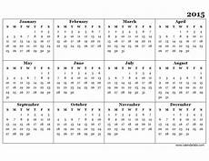 Free Printable Yearly Calendar Templates 2015 2015 Yearly Calendar Template 07 Free Printable Templates