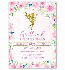 Fairy Party Invites Floral Fairy Party Invitation Love Jk