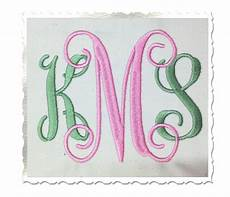 4 inch size only intertwined monogram machine embroidery font