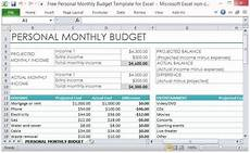 Excel Monthly Expense Template Free Personal Monthly Budget Template For Excel