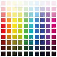 Color Spectrum Chart With Hundred Different Colors In
