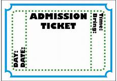 Admission Ticket Template Word Free Printable Admit One Ticket Template Clipart Best