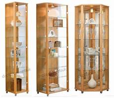 Light Oak Corner Display Cabinet Home Oak Amp Glass Display Cabinets Single Double Or