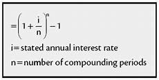 Annual Interest Rate Effective Annual Interest Rate Financial Definition Of