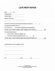 Rent Due Letter Late Rent Notice Template Forms Fillable Amp Printable