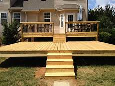 Two Level Deck Designs Two Tier Deck Complete 2 Jpg Tiered Deck Patio Deck