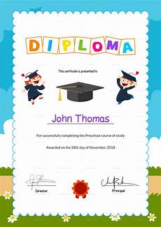 Preschool Graduation Certificates Preschool Diploma Graduation Certificate Design Template
