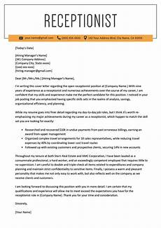 Cover Letter For Receptionist Position Receptionist Cover Letter Example Resume Genius