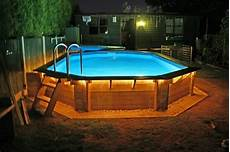 Above Ground Pool Lights How To Landscape Around An Above Ground Pool Inyopools