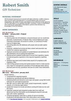Gis Resume Gis Technician Resume Samples Qwikresume