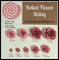 Rolled Paper Flower Sizing Chart Cricut Paper Flowers