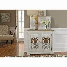 shop camille antique white 2 door mirrored accent cabinet