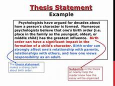 Purpose Of Thesis Statement In An Essay How To Write A Thesis Statement