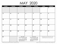 May 2020 Calendar Blank 2020 Calendar Templates And Images