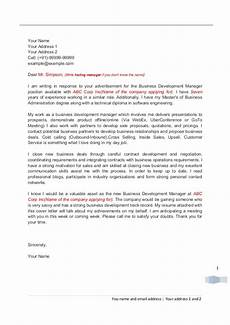 Cover Letter For Business Development Manager Cover Letter For Business Development Professionals