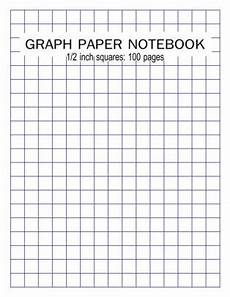 Large Graph Paper 1 Inch Squares Graph Paper Notebook 1 2 Inch Squares 100 Pages Blank