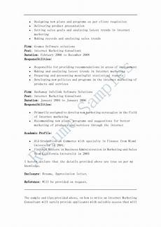 Internet Marketing Resumes Resume Samples Internet Marketing Consultant Resume