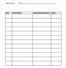 Free Food Log Template 33 Food Log Templates Doc Pdf Excel Free Amp Premium