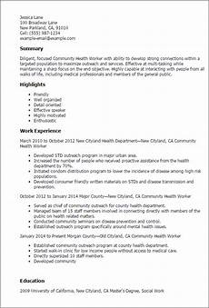 Community Service Worker Resume Professional Community Health Worker Templates To Showcase
